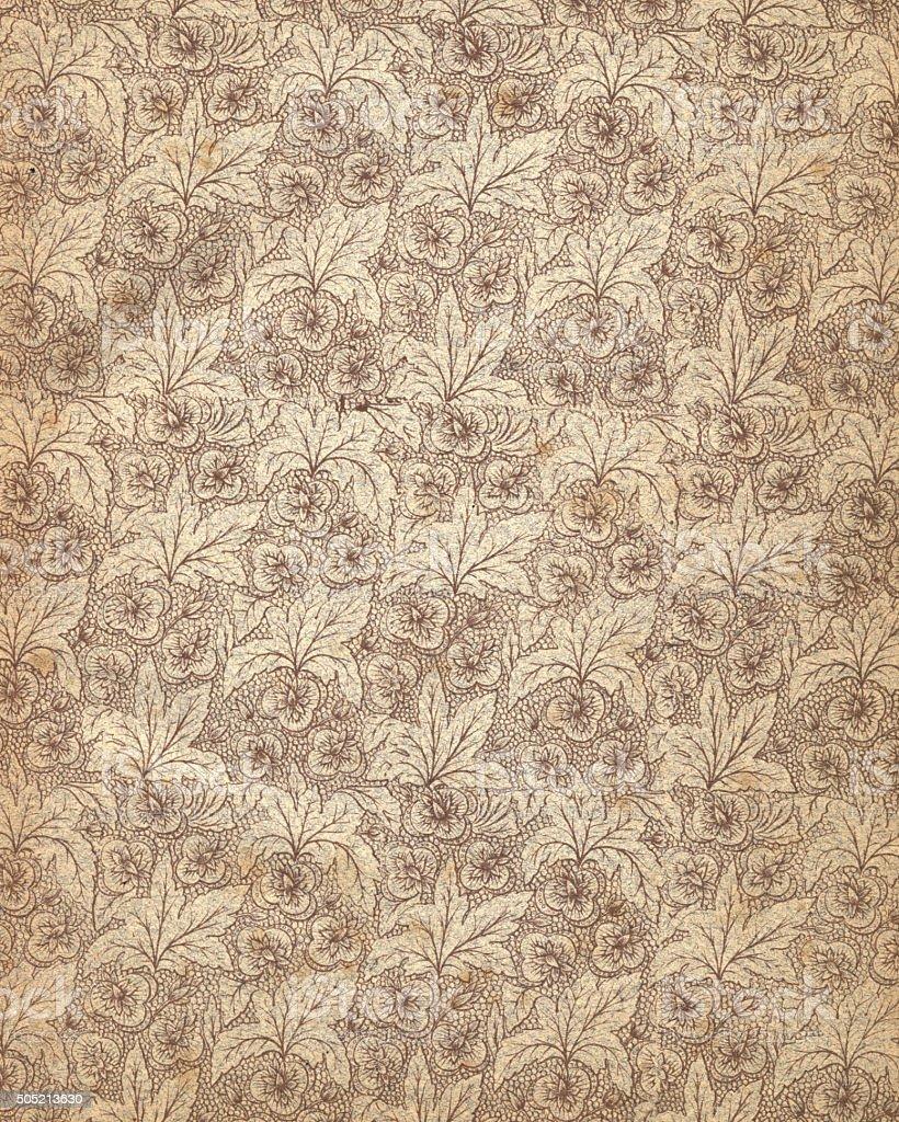 Antique victorian floral patterned paper vector art illustration