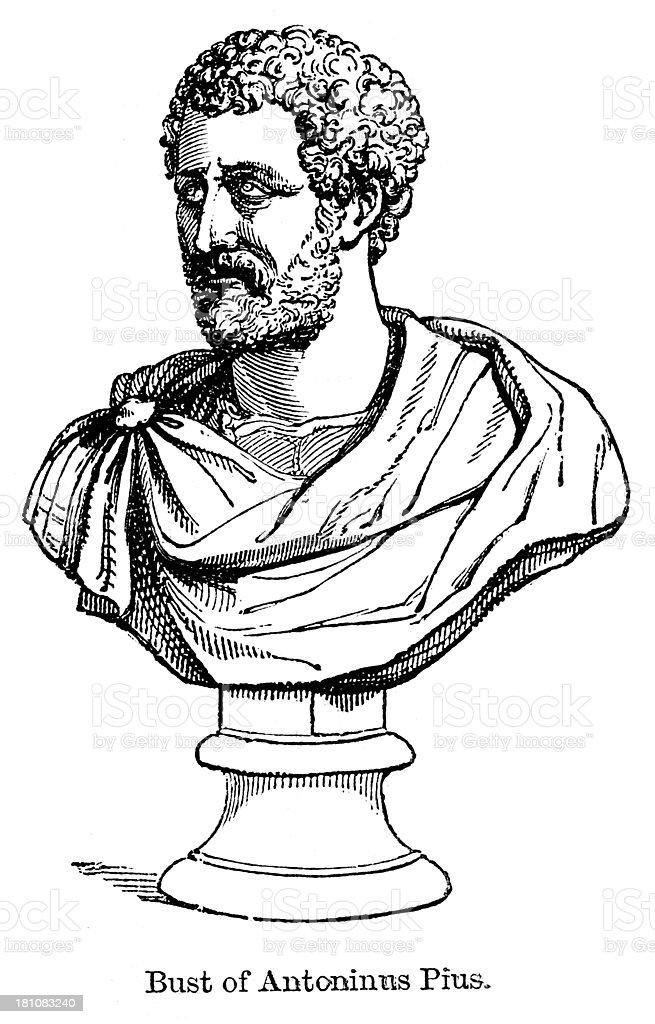 Antoninus Pius royalty-free stock vector art