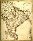 Antquie Map of India