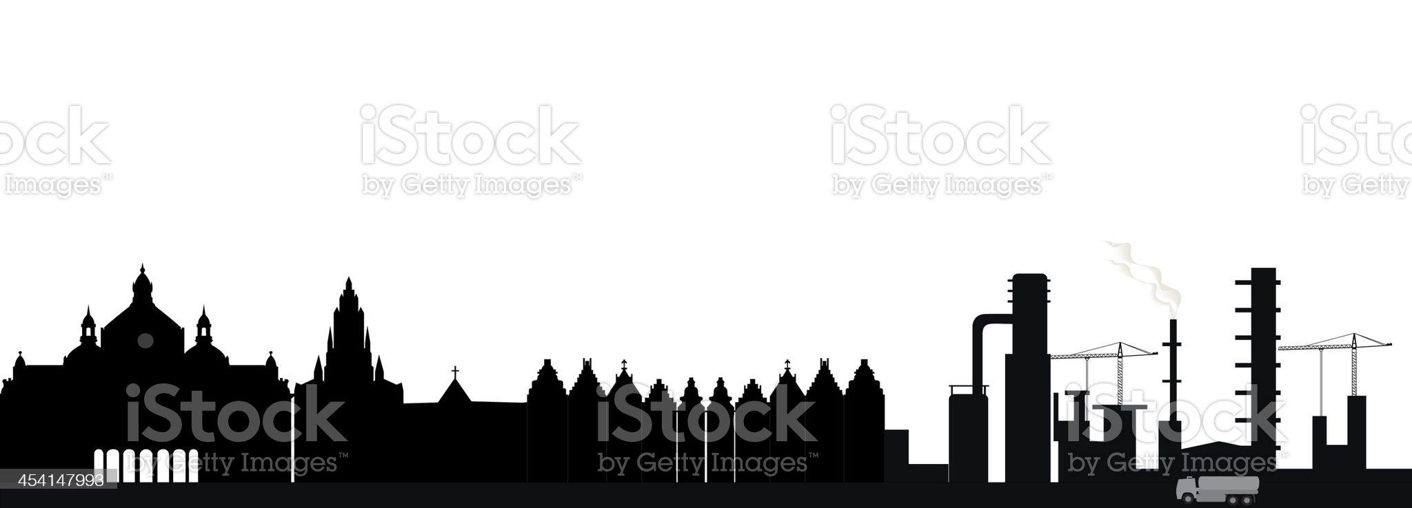 antwerp skyline royalty-free stock vector art