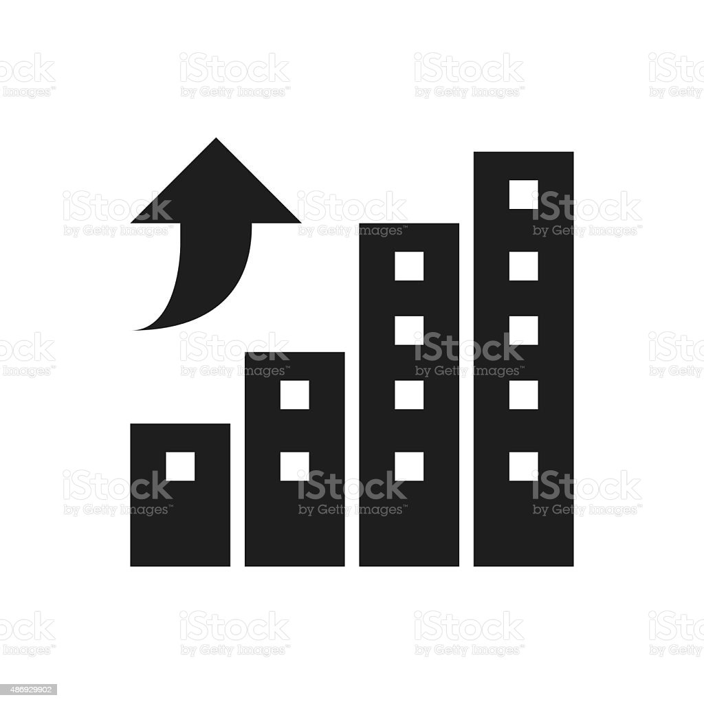 apartment buildings icon on a white background stock vector art