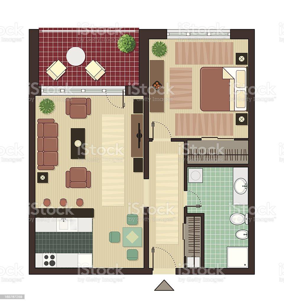 Apartment vector art illustration