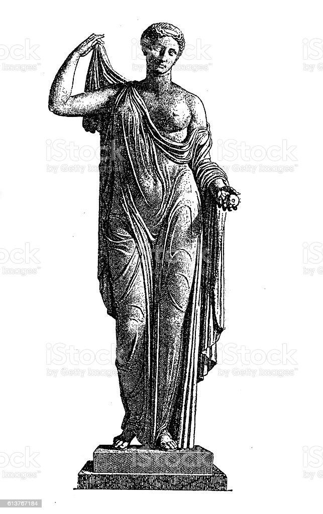 Aphrodite (Venus) vector art illustration