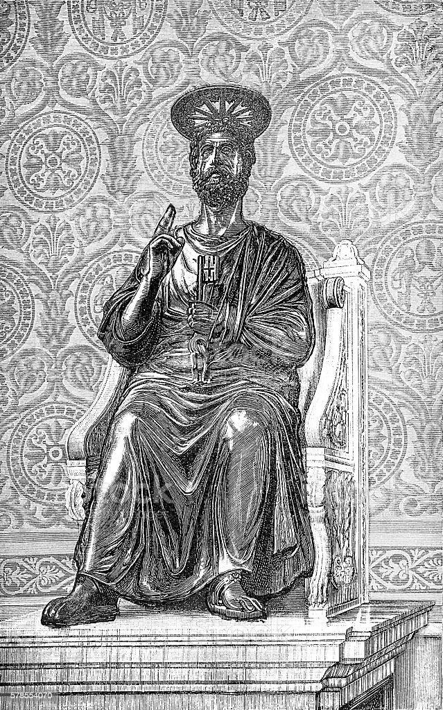 Apostle Peter vector art illustration