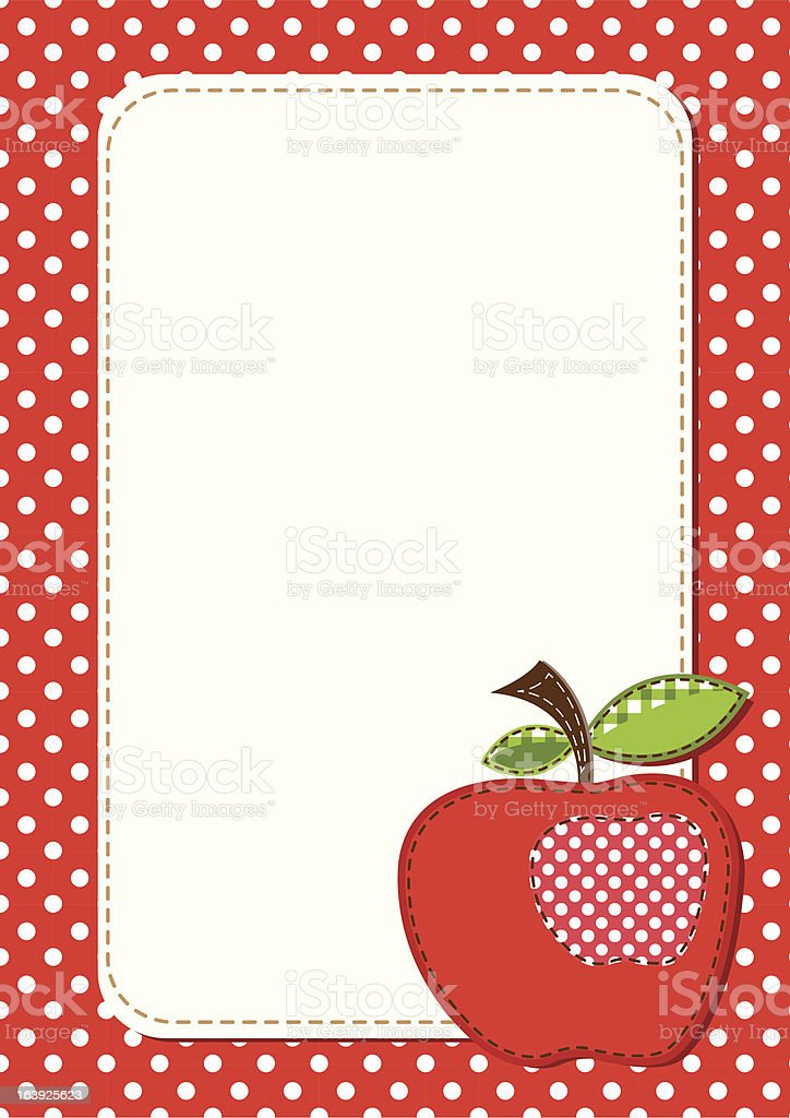 apple background royalty-free stock vector art