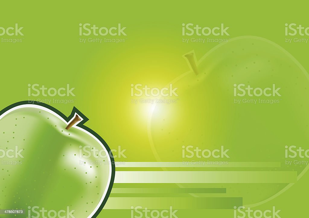 apple background vector art illustration