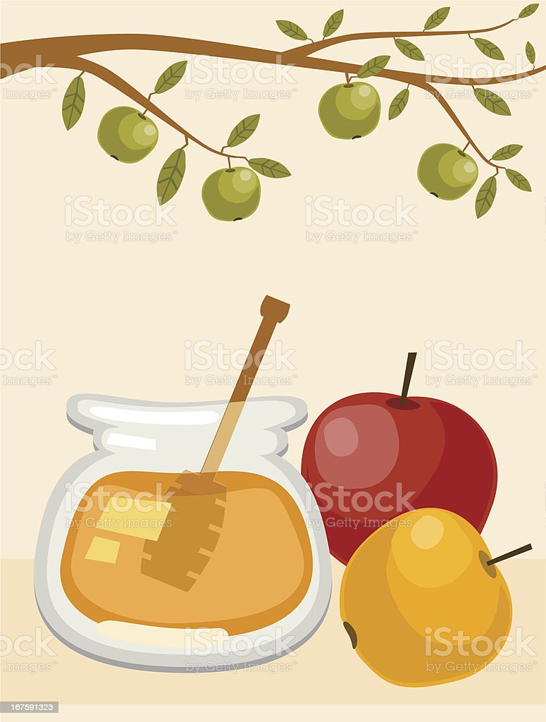 Apple Harvest And Honey royalty-free stock vector art