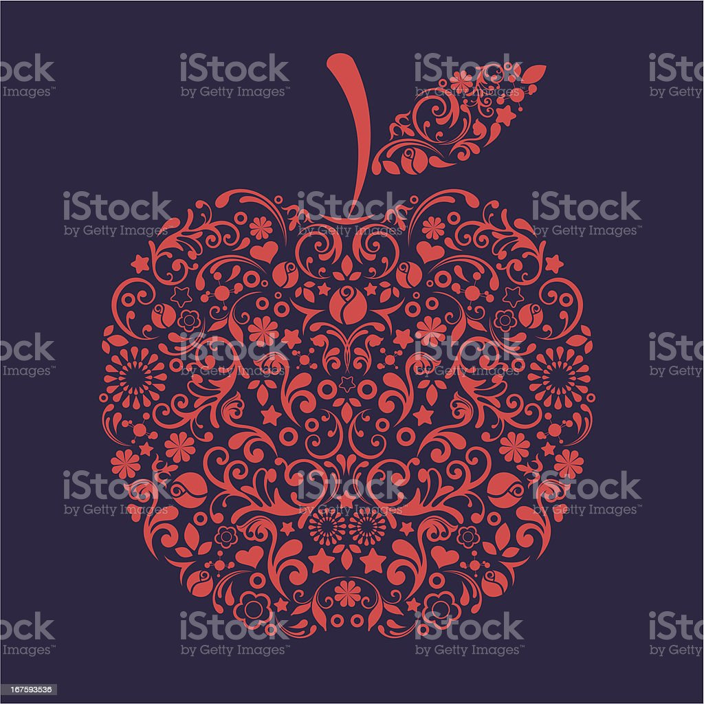 Apple. royalty-free stock vector art