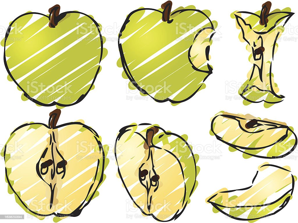 Apple illustration royalty-free stock vector art