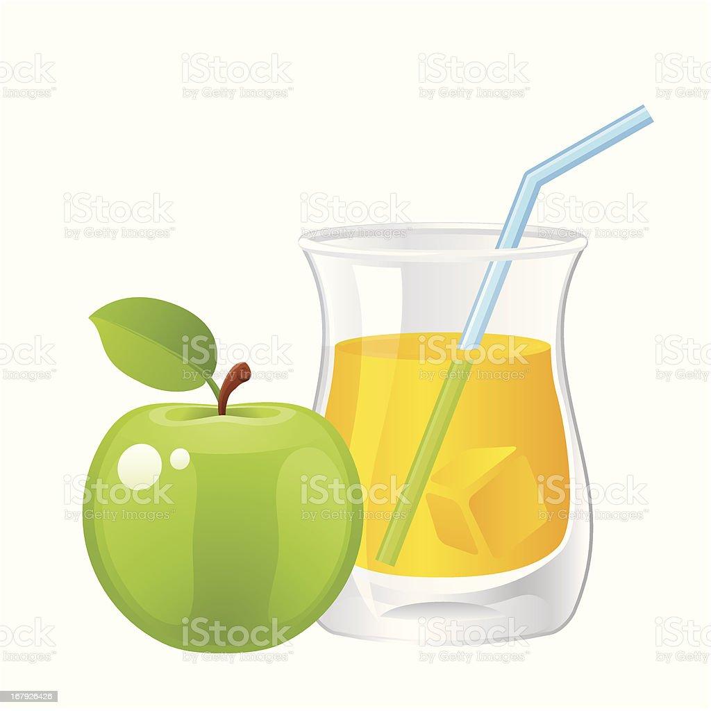 Apple Juice royalty-free stock vector art