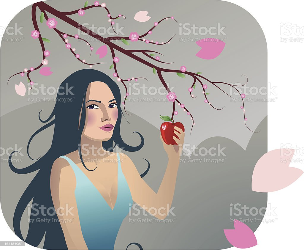 Apple-Eve royalty-free stock vector art