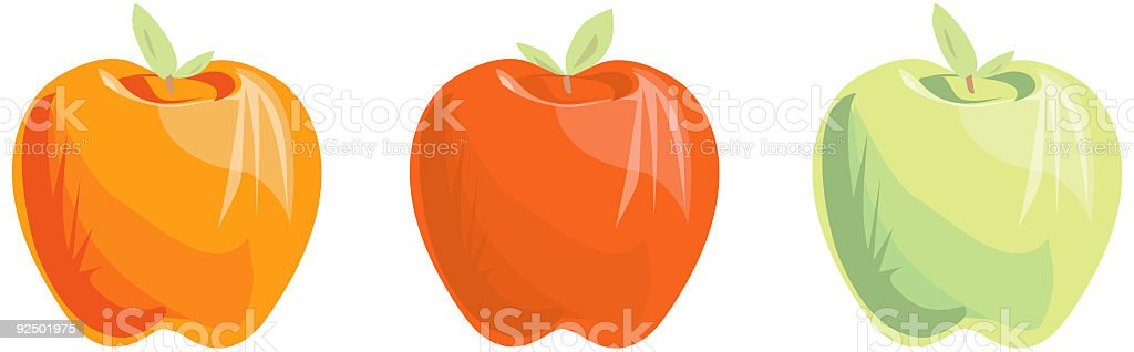 Apples - Vector vector art illustration