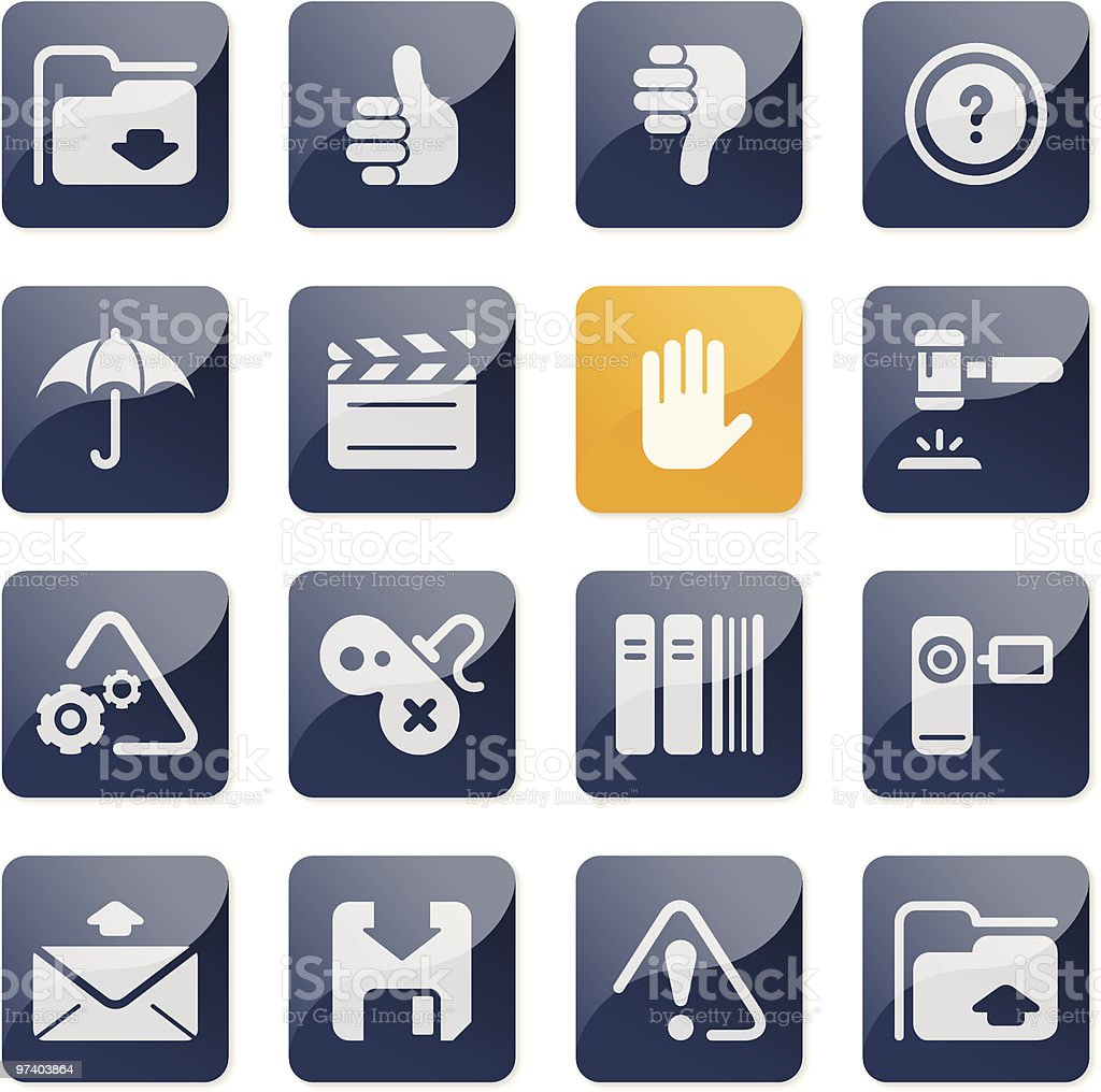 Application & interface icons | glossy series royalty-free stock vector art