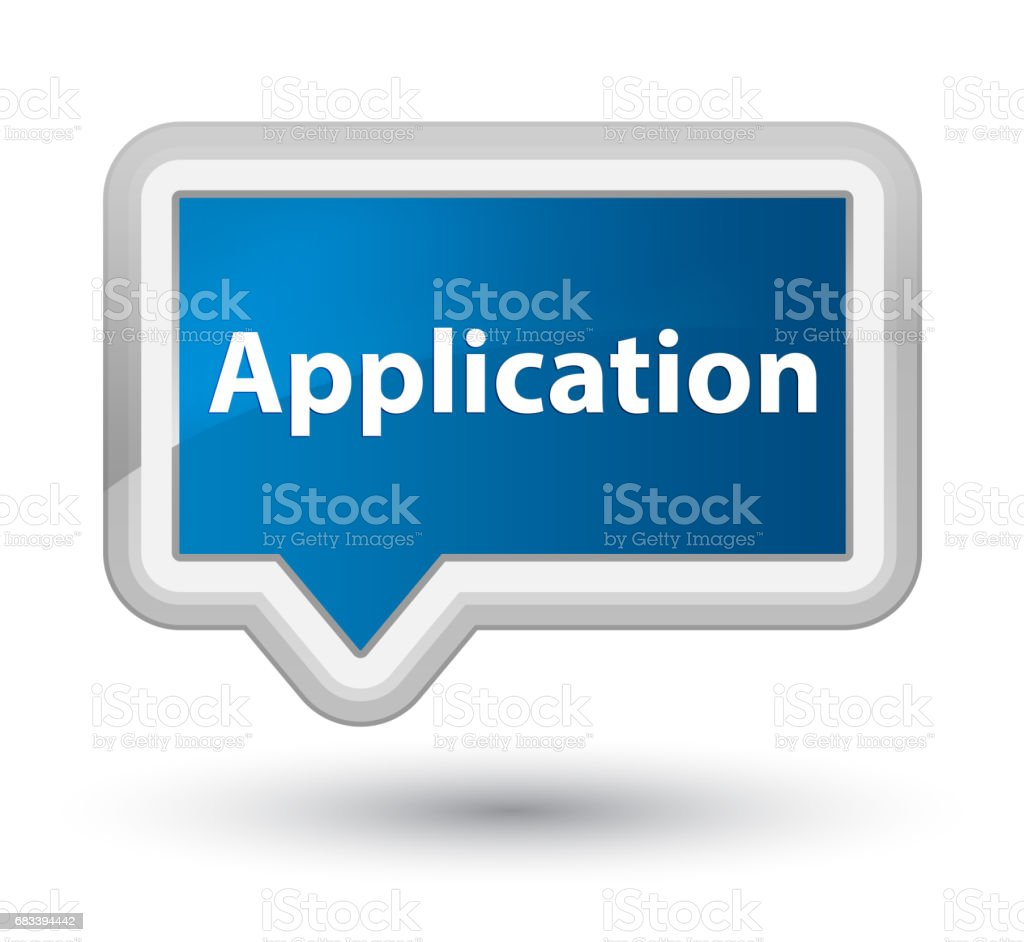 Application prime blue banner button vector art illustration