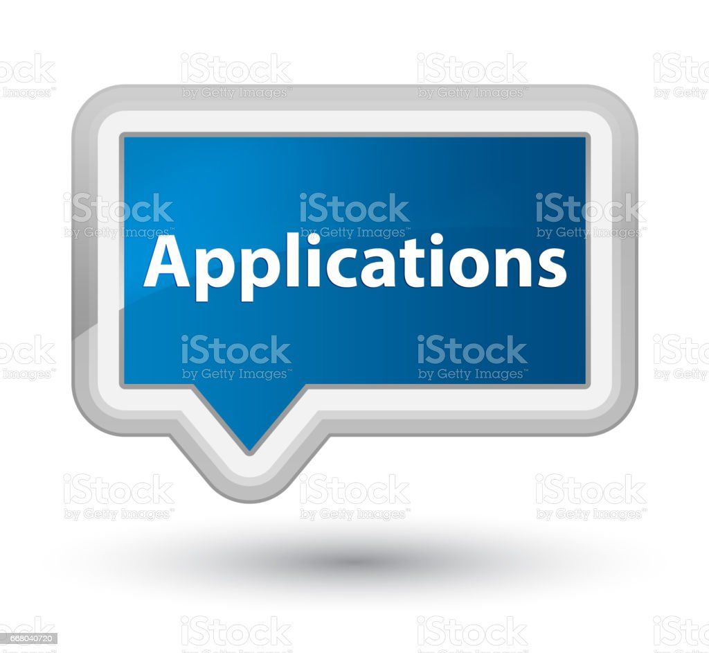 Applications prime blue banner button vector art illustration