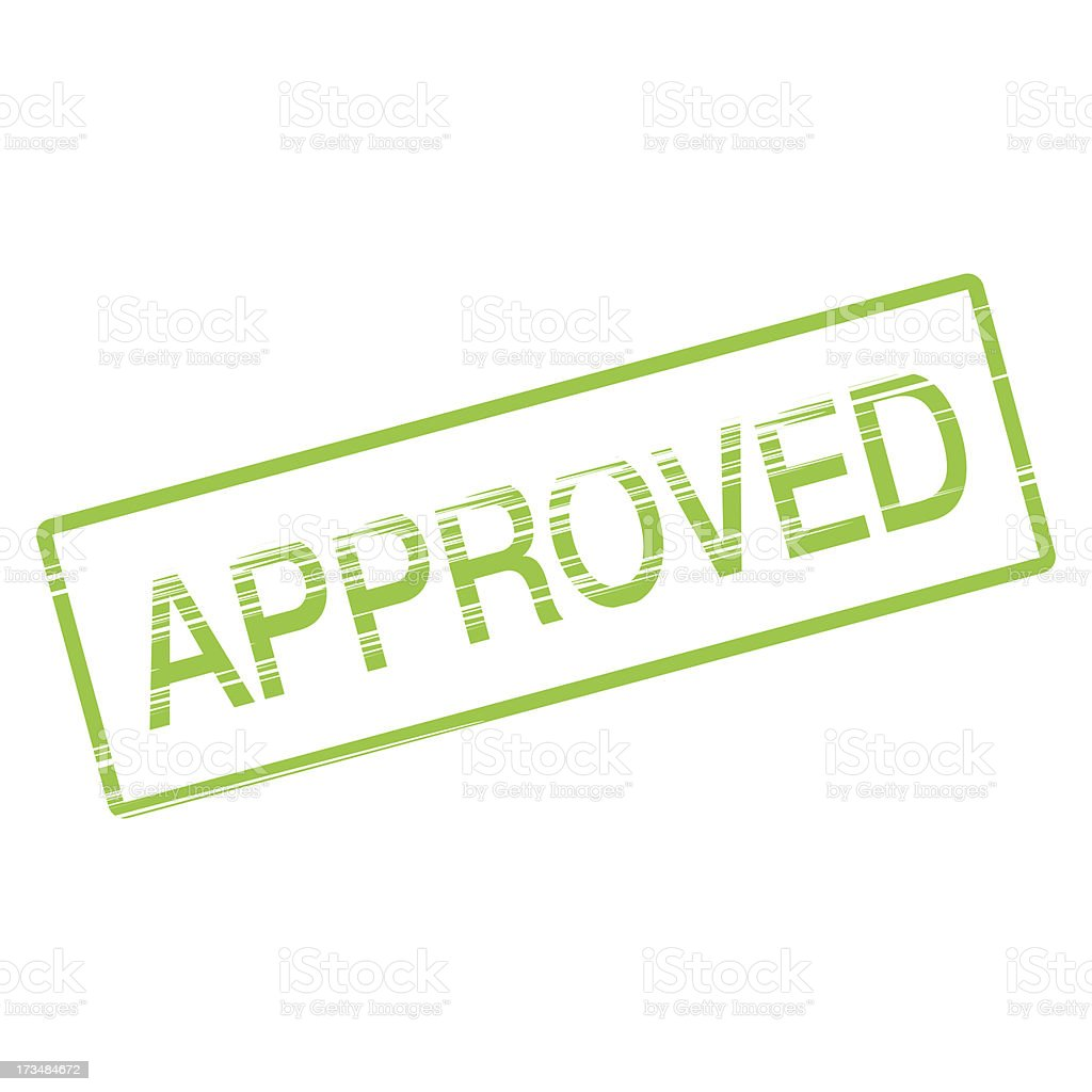 approved rubber stamp green royalty-free stock vector art