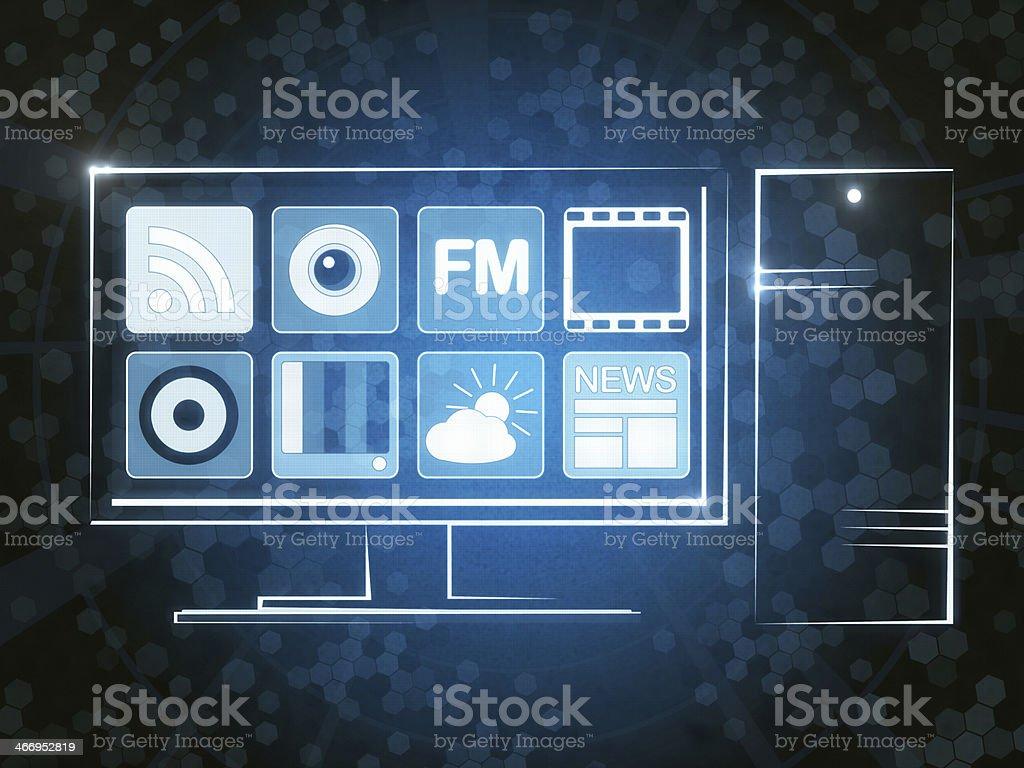 Apps News vector art illustration