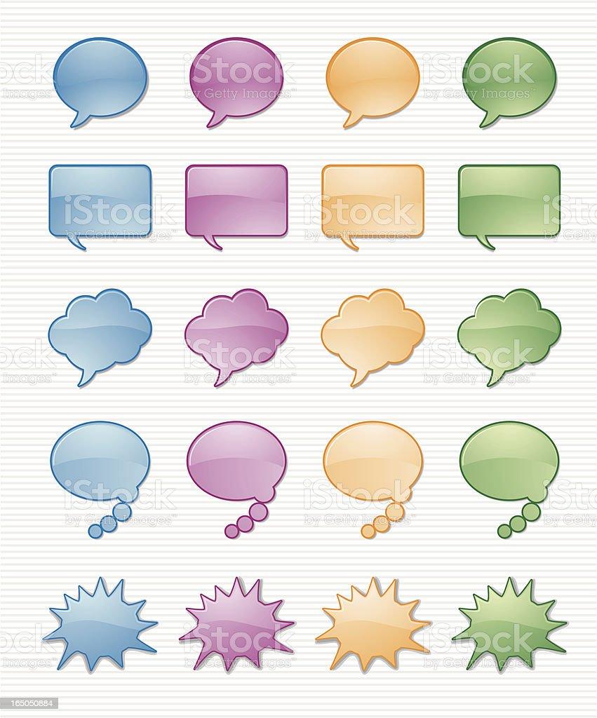 Aqua Talk Bubbles vector art illustration
