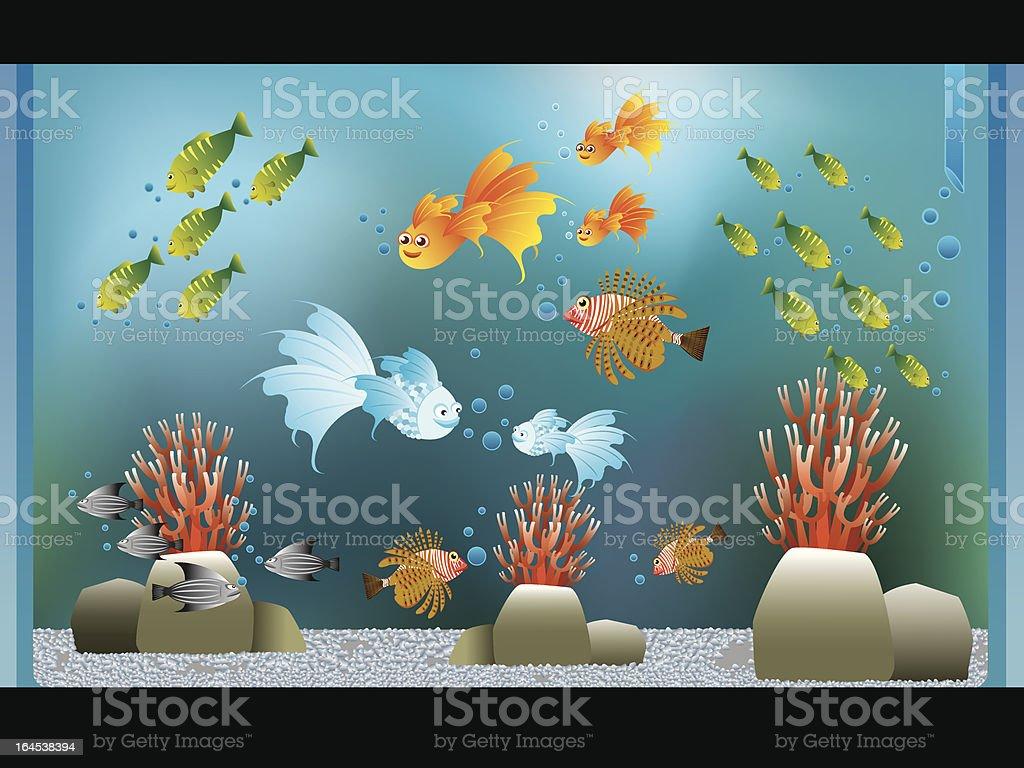 Aquarium vector art illustration