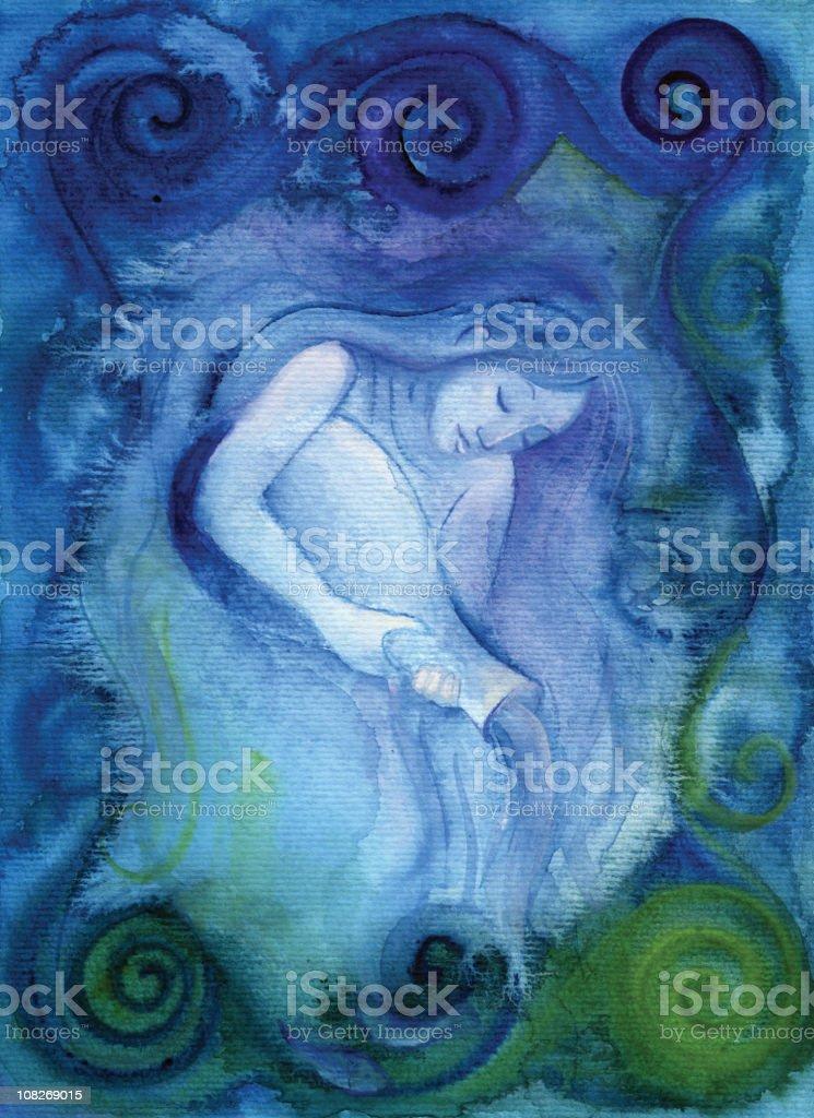 Aquarius (zodiac air sign) royalty-free stock vector art