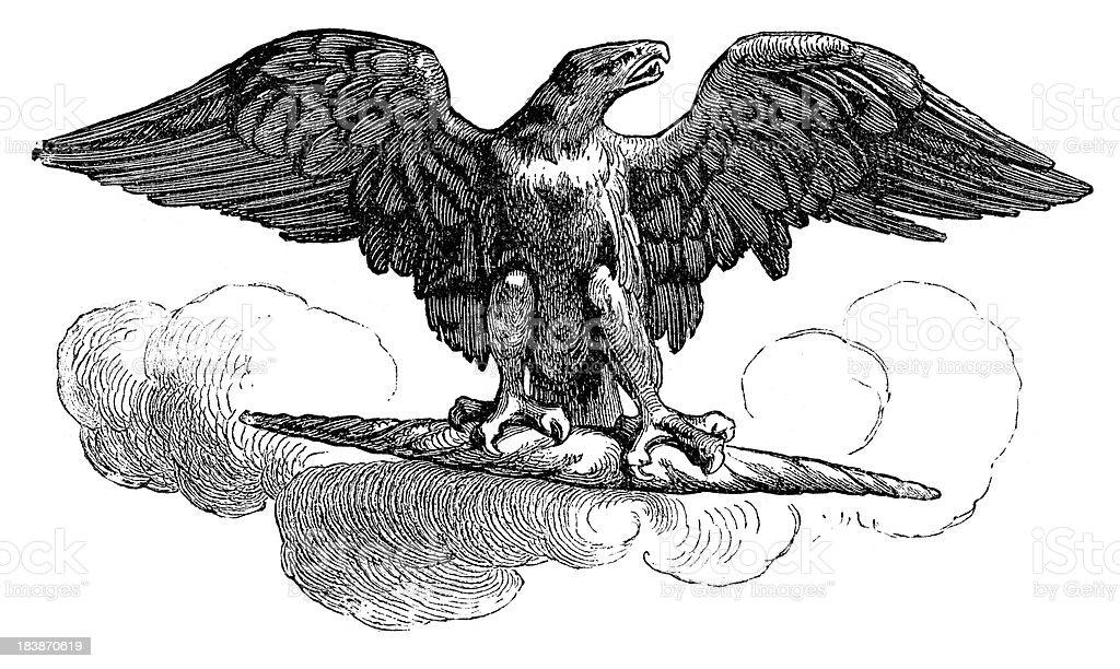 Aquila - Roman Imperial Eagle vector art illustration