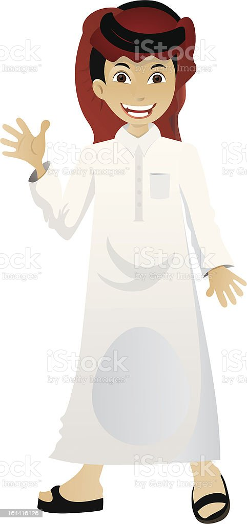 Arabian Boy royalty-free stock vector art