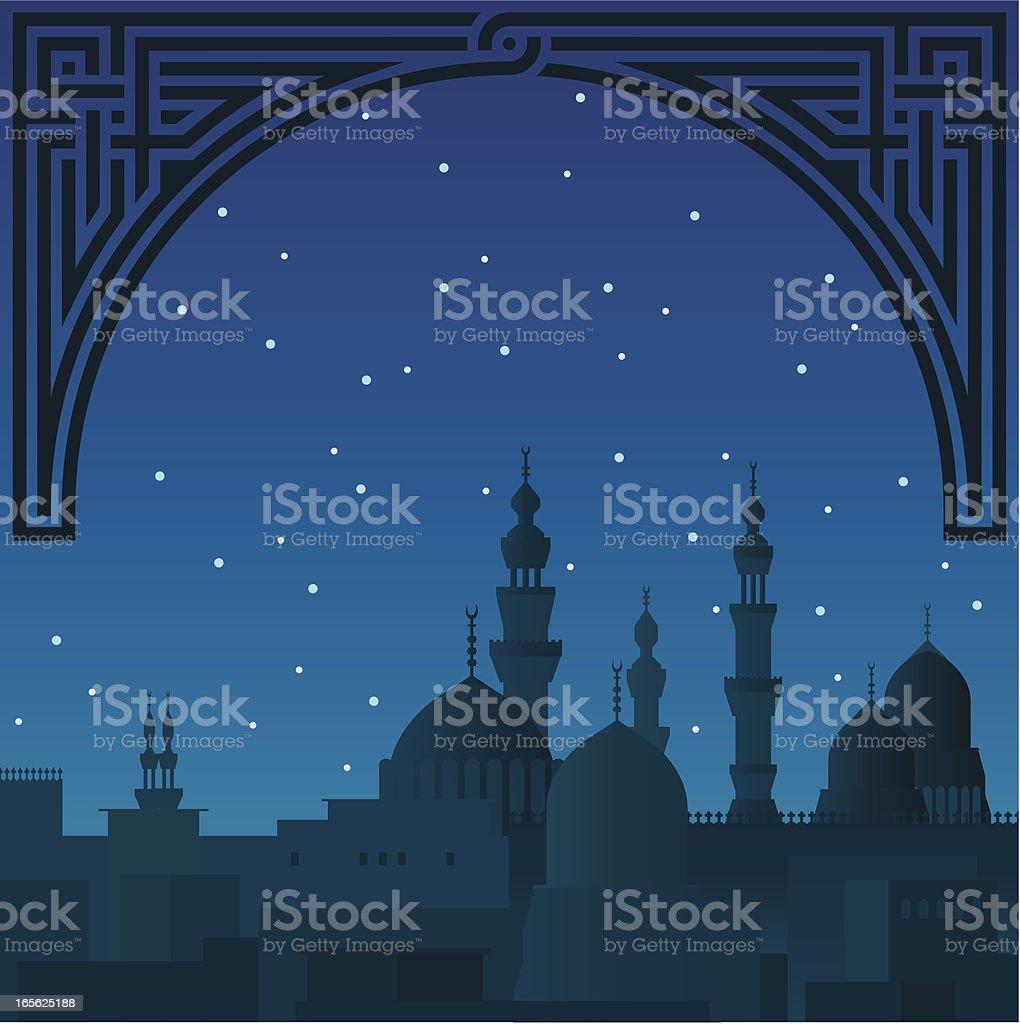 arabian nights vector art illustration