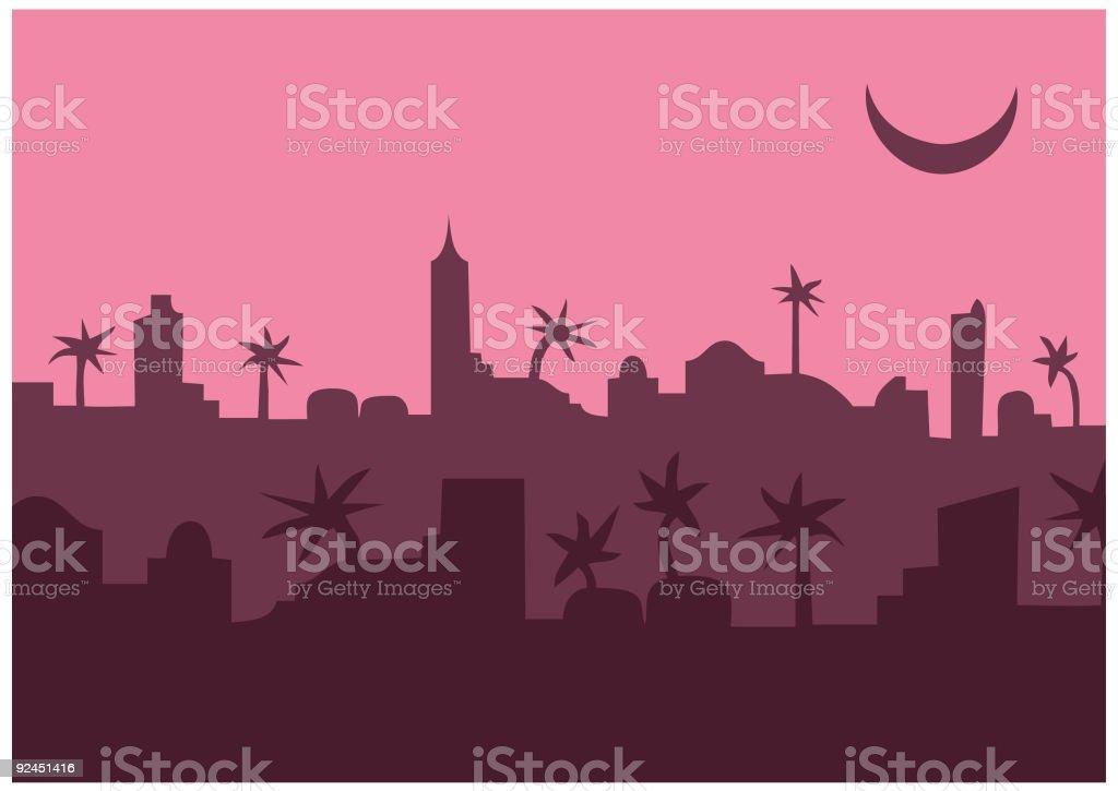 arabian/african city (vector) royalty-free stock vector art