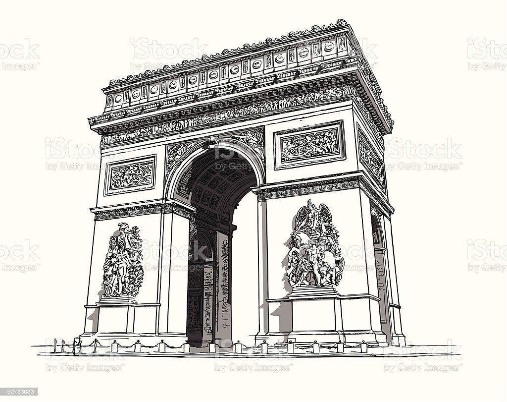 Arc de triomphe royalty-free stock vector art
