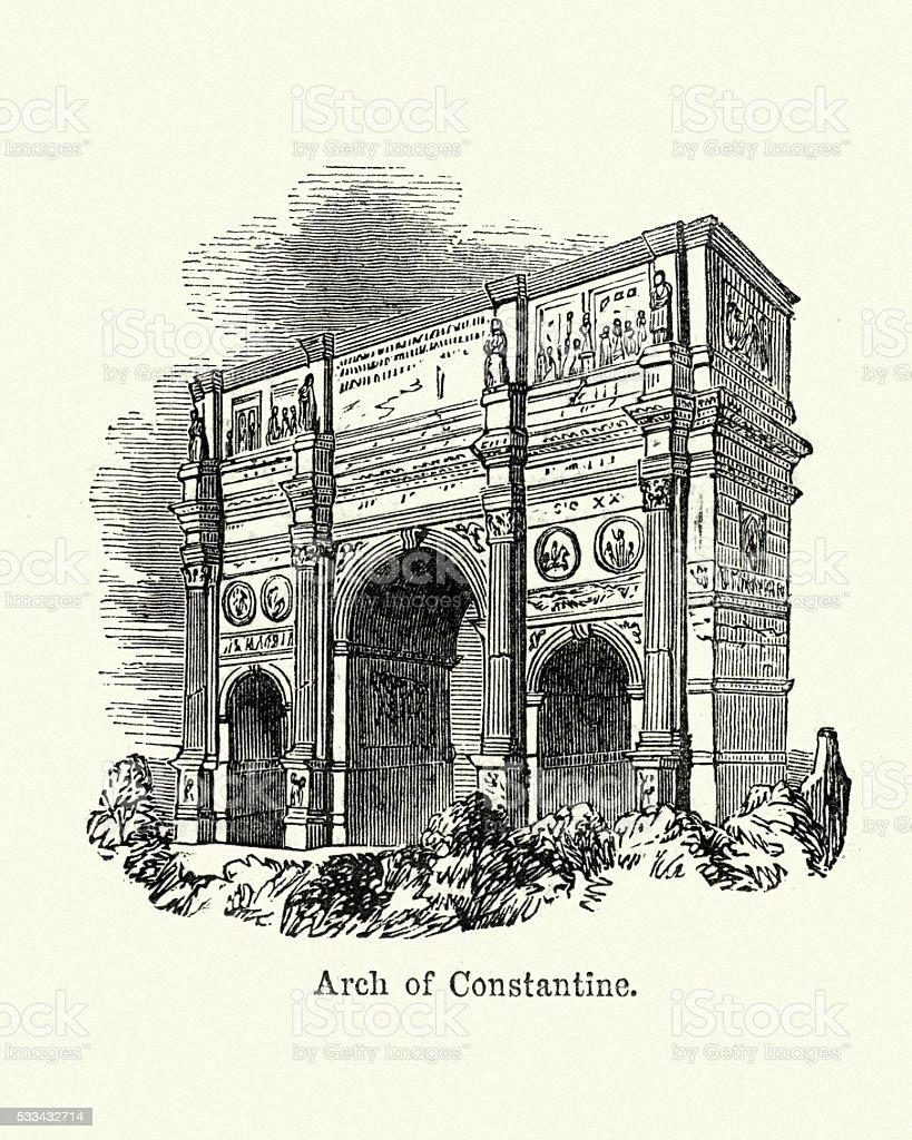 Arch of Constantine vector art illustration