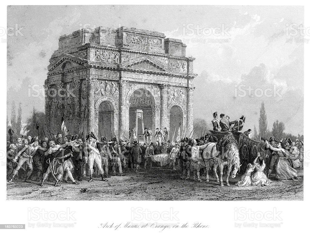 Arch of Marius royalty-free stock vector art