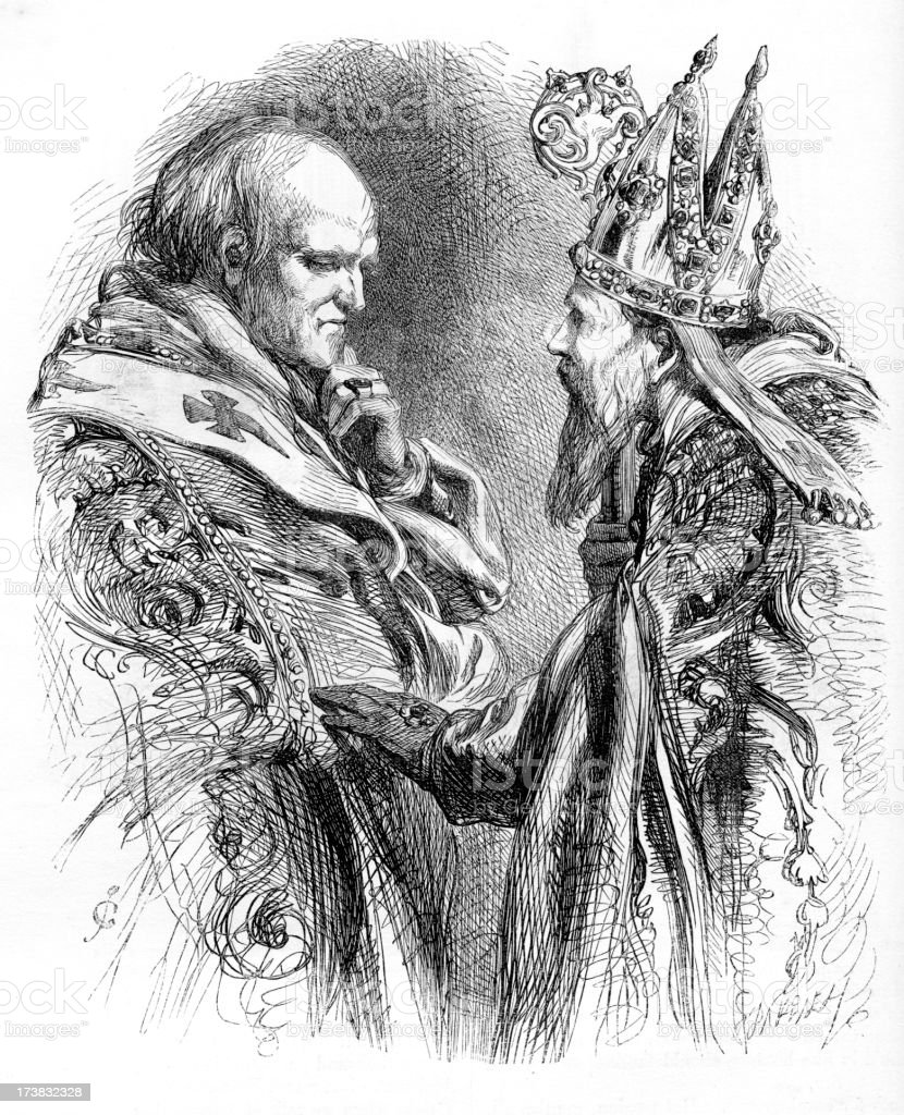 Archbishop and the Bishop vector art illustration