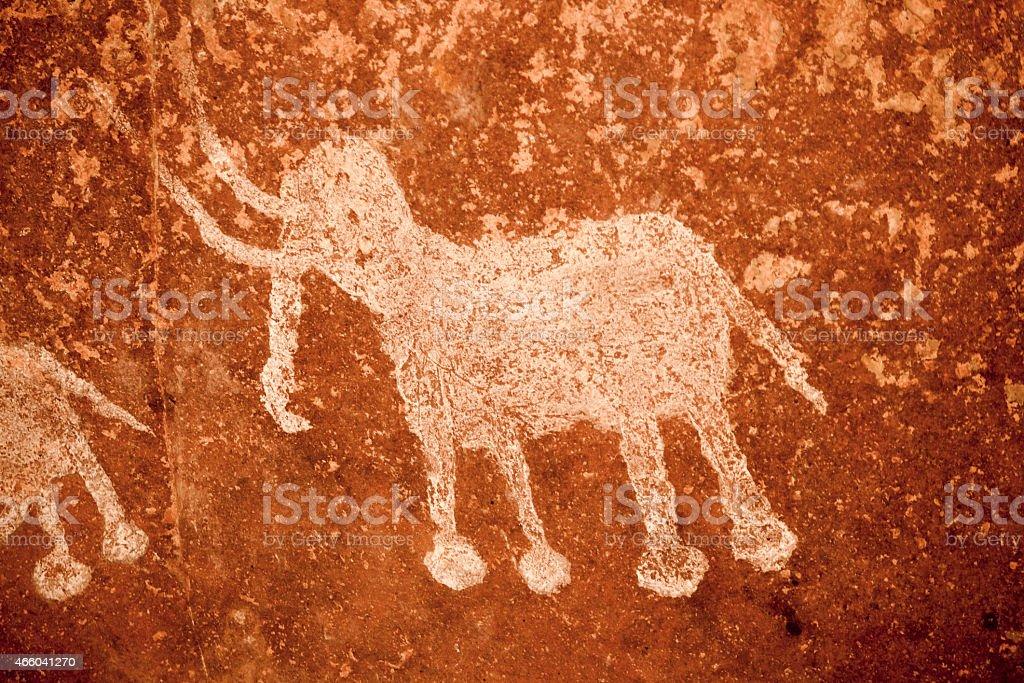Archeological pre-historic human clift paint India vector art illustration