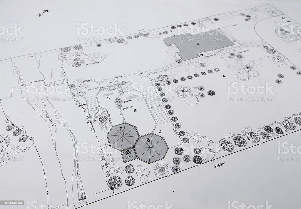 architectural drawings 25 royalty-free stock vector art