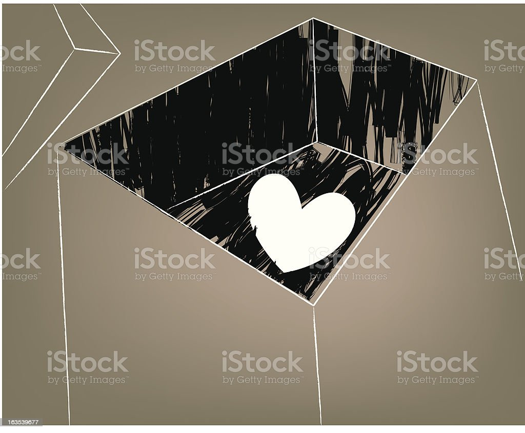 archived heart royalty-free stock vector art