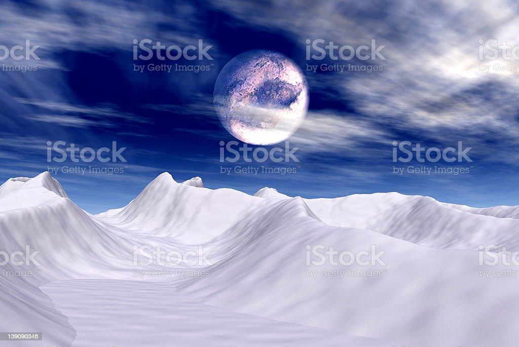 Arctic Moon vector art illustration