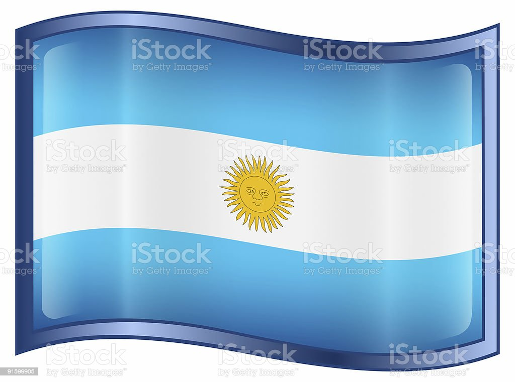 Argentina Flag icon,  isolated on white background. royalty-free stock vector art