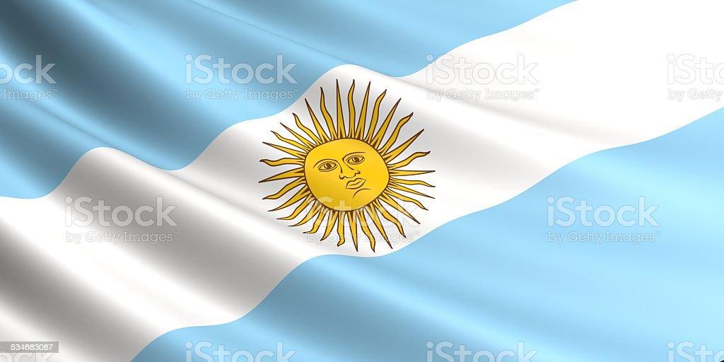 Argentina flag. royalty-free stock vector art