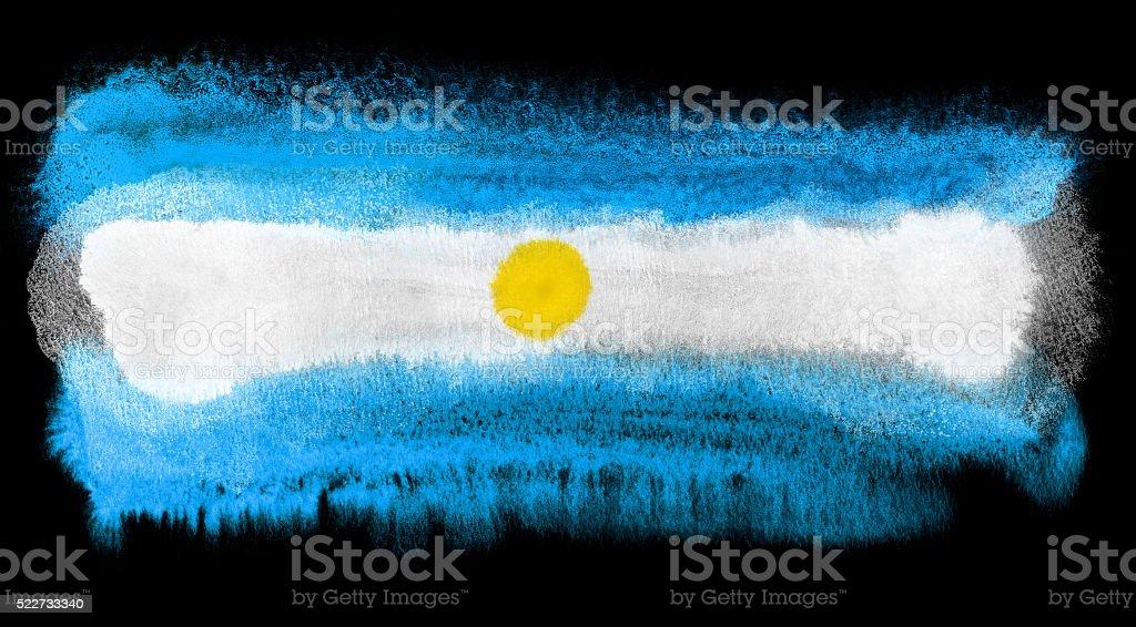 Argentina flag illustration vector art illustration