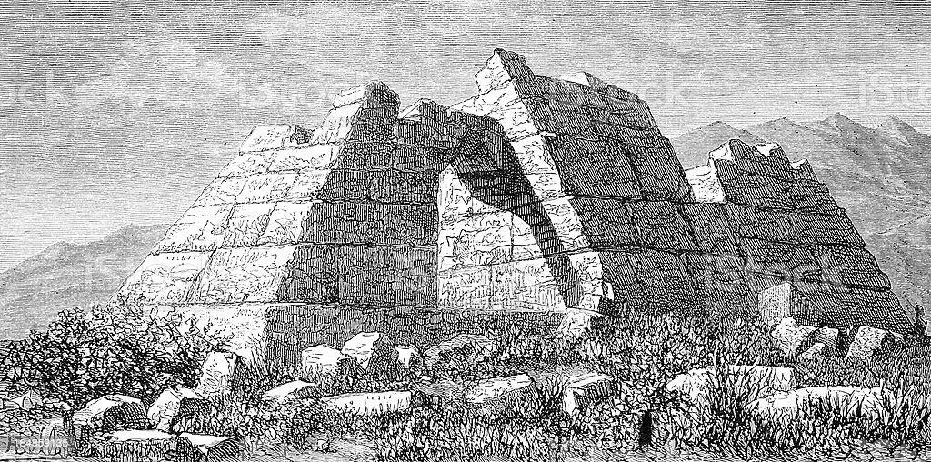Argos' pyramid vector art illustration