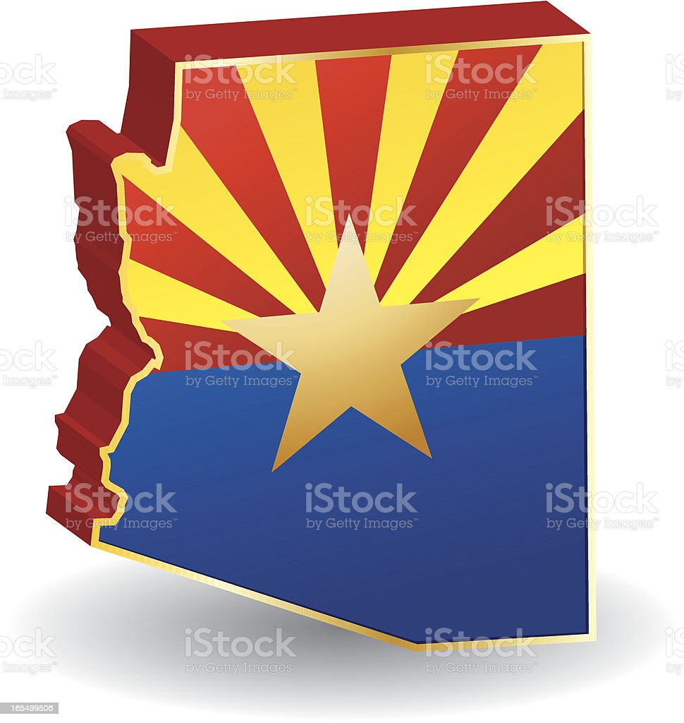 Arizona Flag 3D royalty-free stock vector art