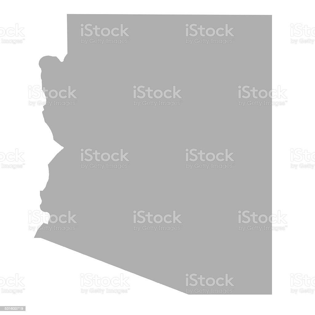 Arizona State map vector art illustration