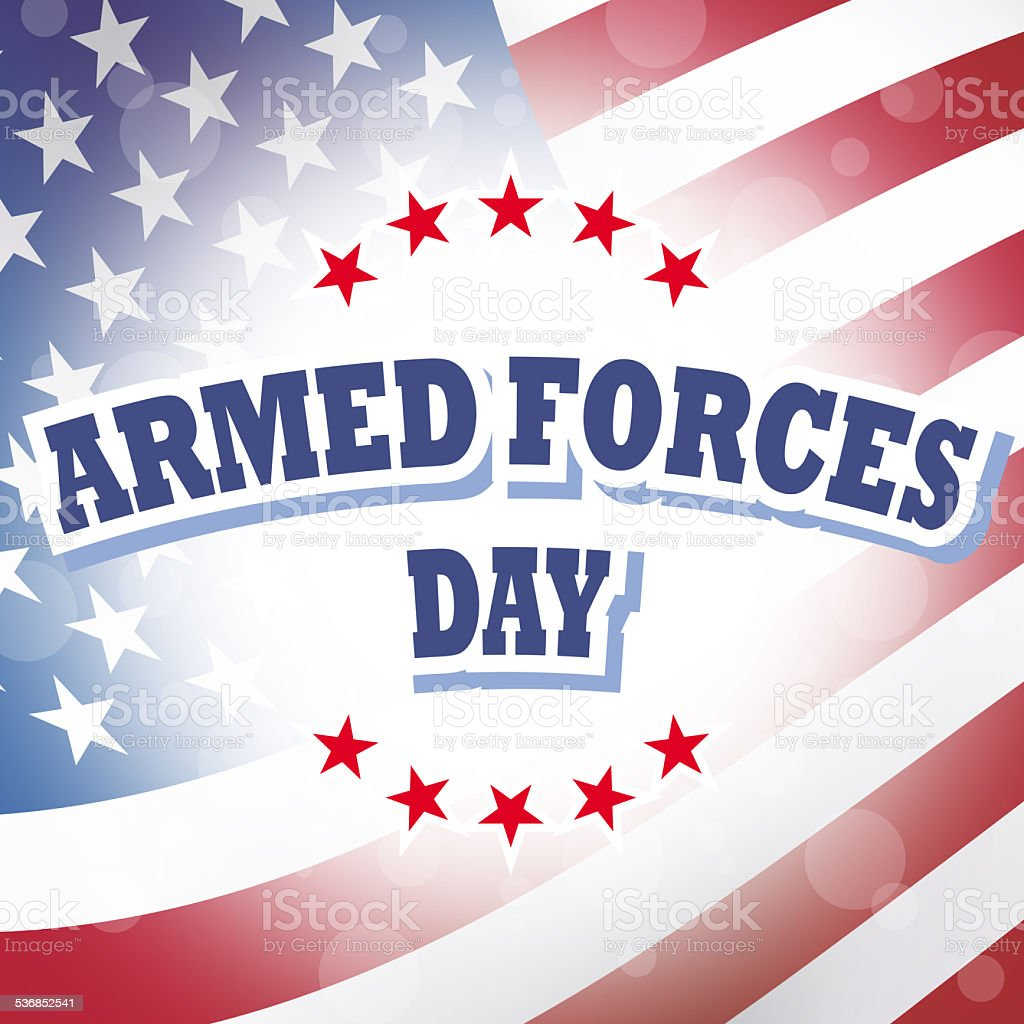 armed forces day banner vector art illustration