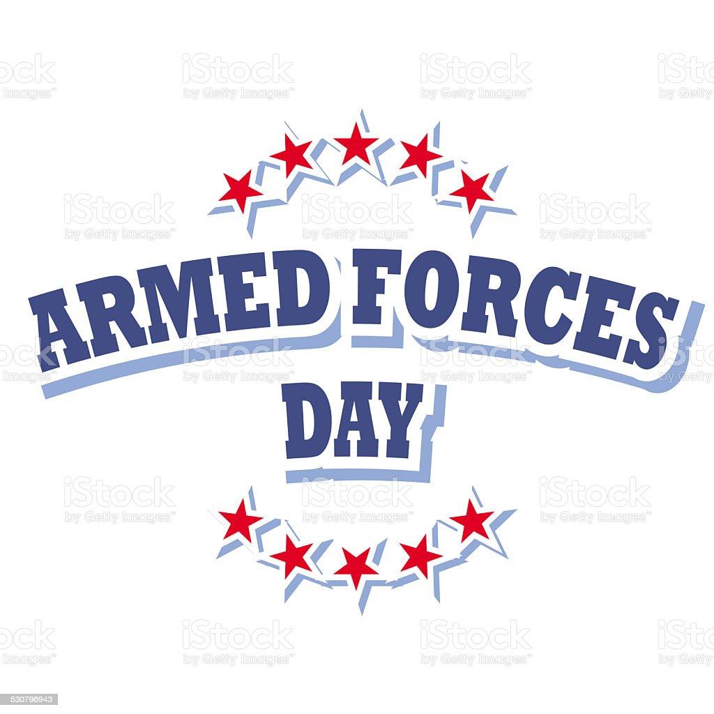 armed forces day logo vector art illustration