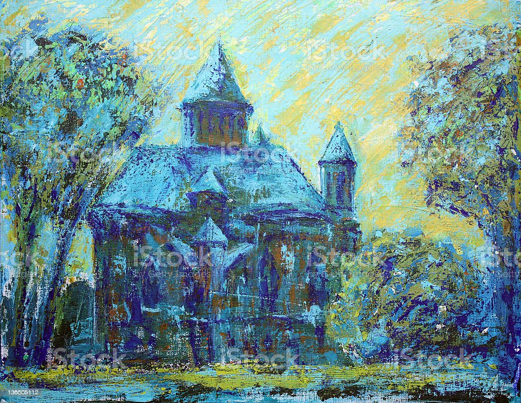 Armenian Church in Chernivtsi, Ukraine. royalty-free stock vector art