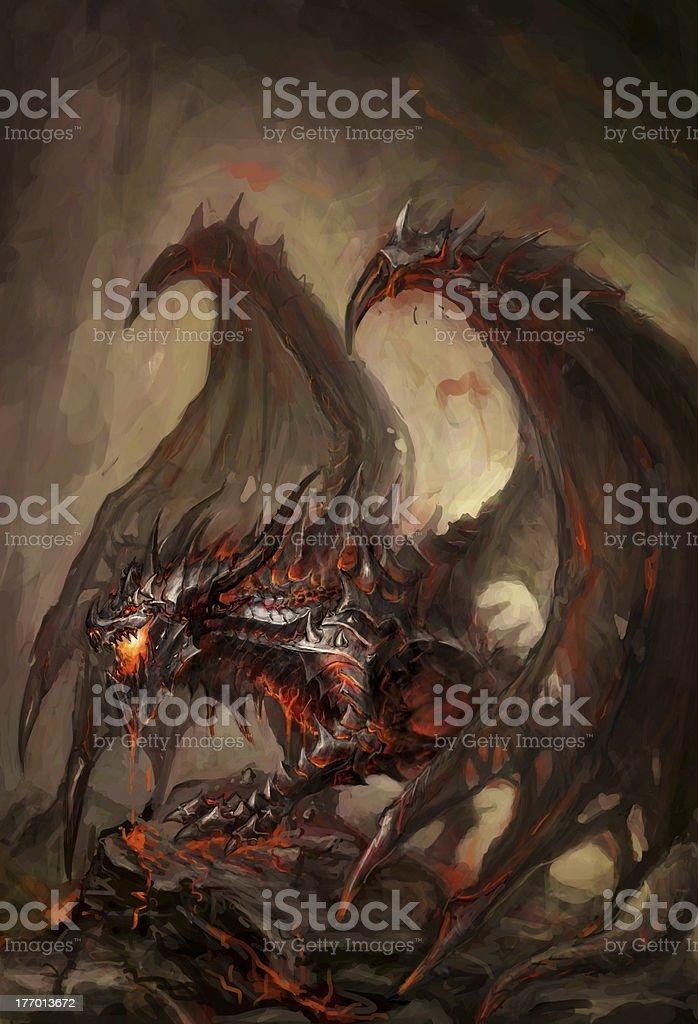 armored dragon royalty-free stock vector art
