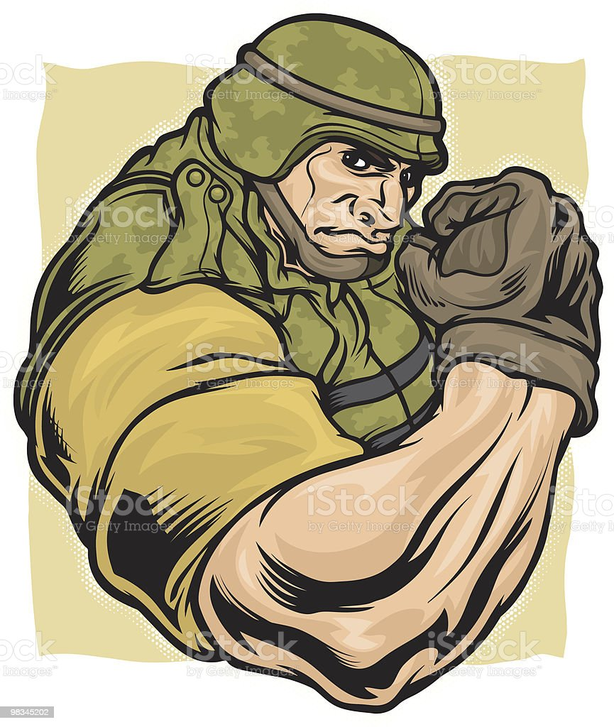 Army Flex royalty-free stock vector art