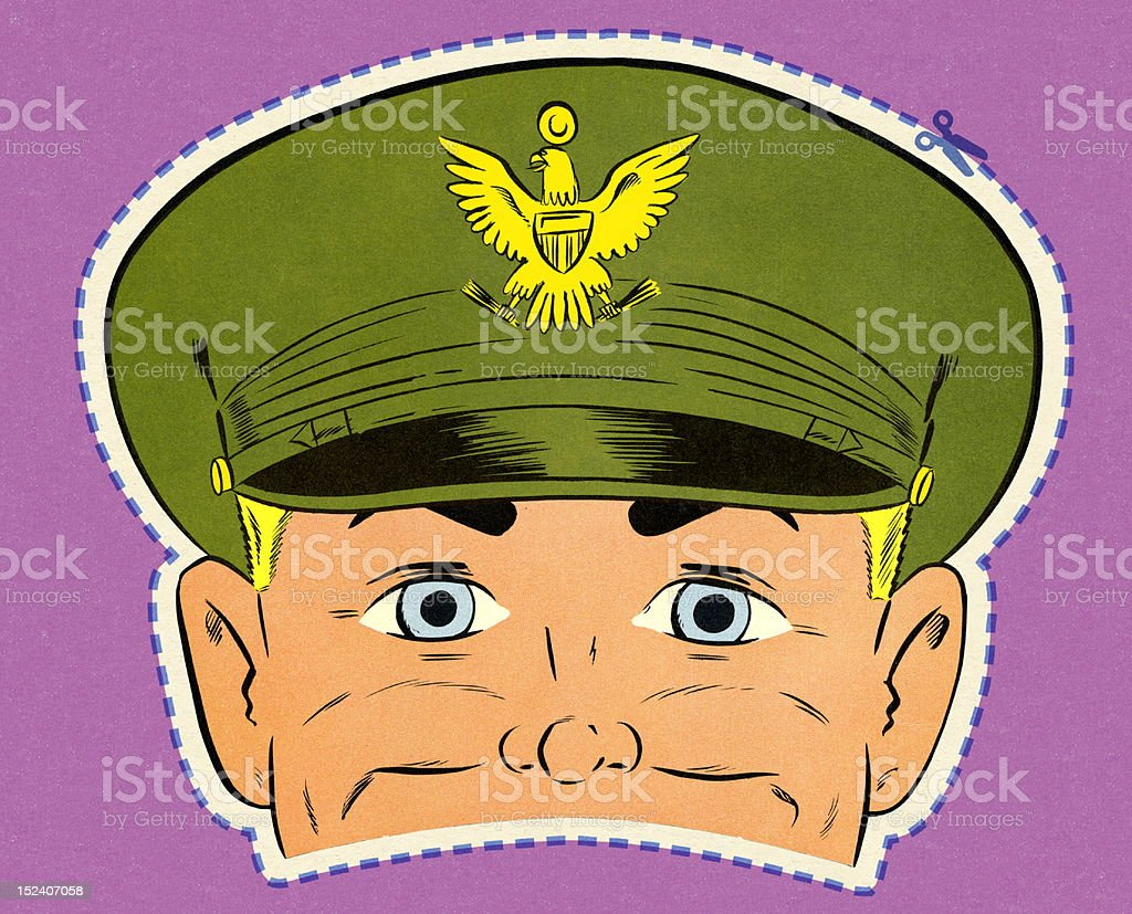 Army Man Mask royalty-free stock vector art