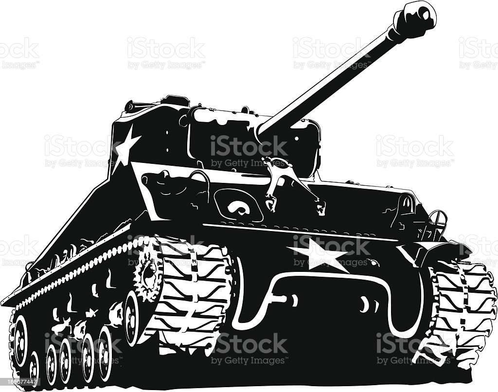 Army tank vector art illustration
