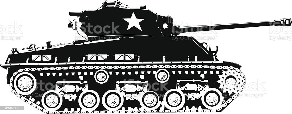 Army tank royalty-free stock vector art